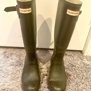 Hunter Green Hunter rain boots